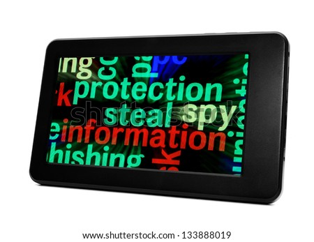 Information protection steal - stock photo