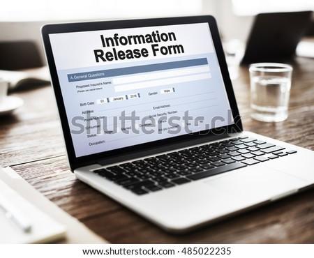 Permission Form Photos RoyaltyFree Images Vectors – Personal Information Release Form