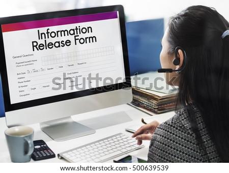 Release Form sn mky sn mky pro leny zdarma a vektory – Personal Information Release Form