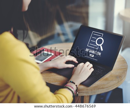 Information Results Discovery Investigation Concept - stock photo