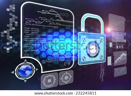 Information safety - stock photo