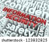 Information Security Concept. Inscription of Red Color Located over Text of White Color. - stock photo