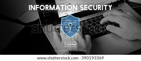 Information Security Protection Privacy Interface Concept - stock photo