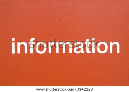 Information stenciled on metal background.