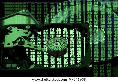 Information storage concept - stock photo