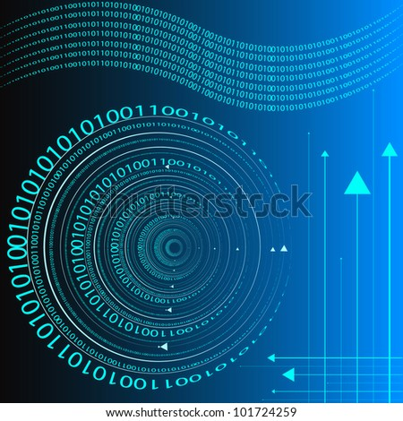 Information Tech Background. Eps Version Also Available In Gallery. - stock photo