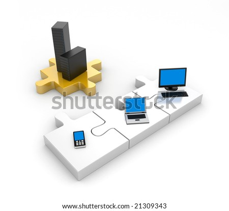 Information technology - stock photo