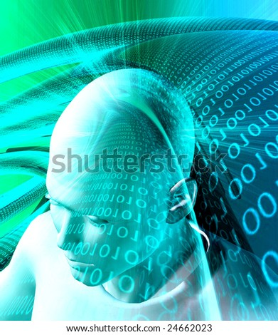 Information technology abstract background - stock photo