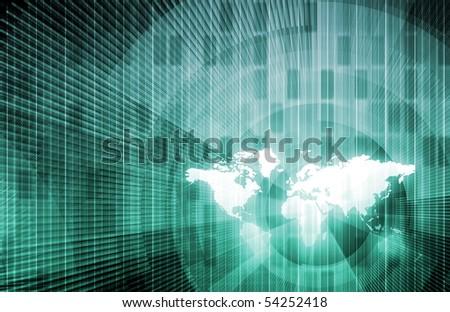 Information Technology as on a International Level - stock photo