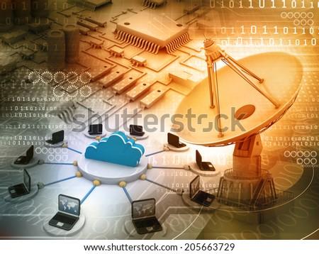 Information Technology background  - stock photo