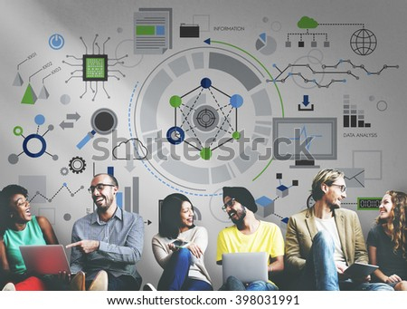 Information Technology Connection Graphics Concept - stock photo