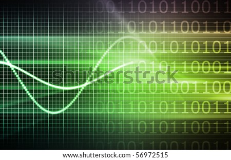Information Technology Data Network as a Abstract - stock photo
