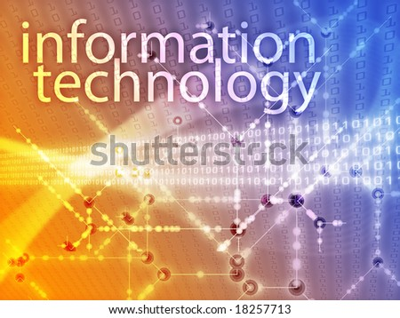 Information technology illustration, Digital data transfer abstract