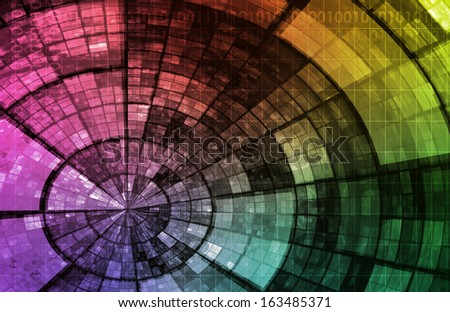 Information Technology or IT Infotech as a Art - stock photo