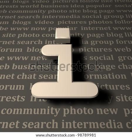 Informations - stock photo