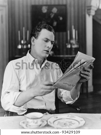 INFORMED READER - stock photo