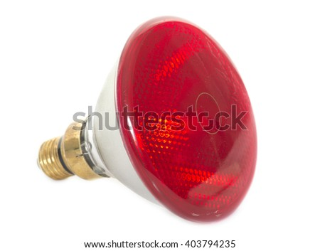 infrared bulb in front of white background - stock photo