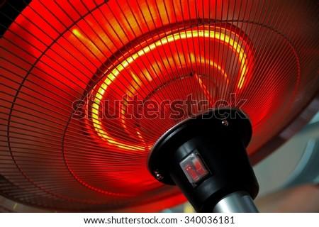 Infrared heater round shape - stock photo