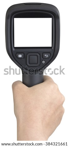 Infrared Thermographic Camera Isolated with Clipping Path - stock photo