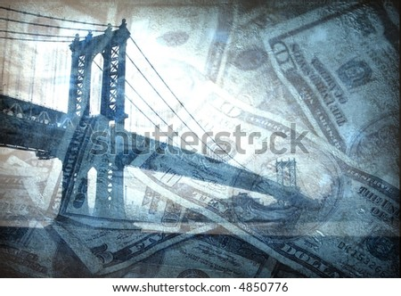 Infrastructure Money - Cost - Bridge - stock photo