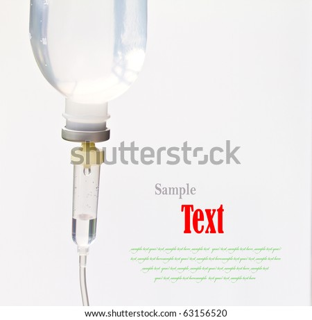 Infusion bottle with IV solution - stock photo