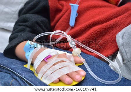 Infusion injection - stock photo