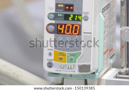 Infusion pump - stock photo