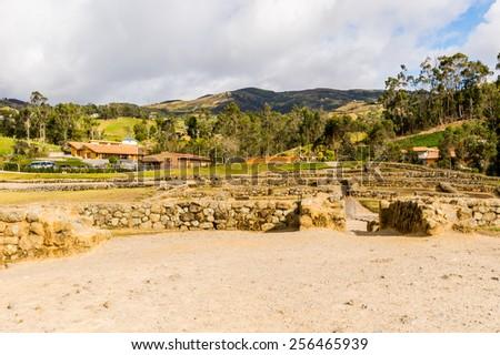 Ingapirca, Inca city, Ecuador - stock photo