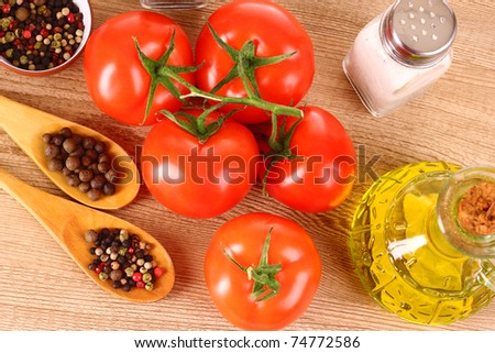 ingredients and spice for food cooking - stock photo