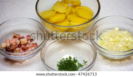 Ingredients for Bratkatoffeln