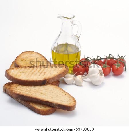 Ingredients for bruschetta - stock photo