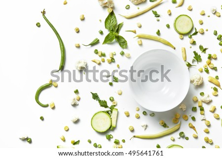 ingredients for green salad