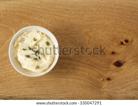 Ingredients for making a sandwich - stock photo