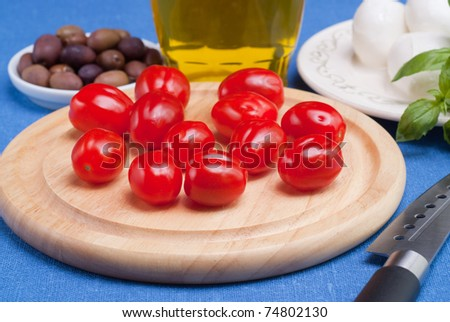 "Ingredients for salad ""Caprese""."