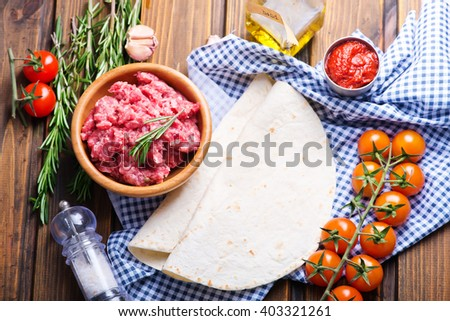 Ingredients for tacos - stock photo