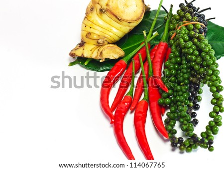Ingredients for Thai food,Tradition thai herb - stock photo