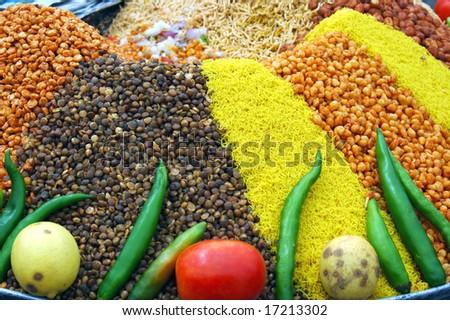 Ingredients Indian food - stock photo