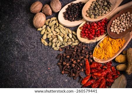 ingredients,spices - stock photo