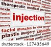 Injection plastic surgery creative message. Wrinkle reduction medical poster concept - stock vector