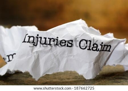 Injuries claim - stock photo