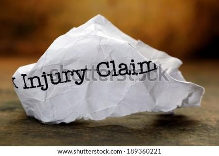 Injury claim - stock photo