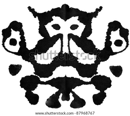 Ink blot for psychiatric evaluations. - stock photo