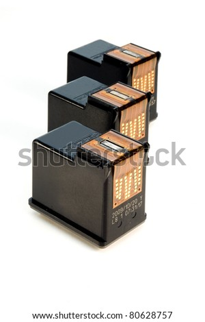 ink cartridges over white background - stock photo