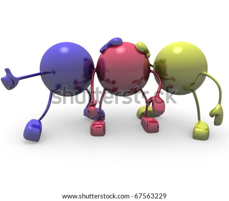 ink concept and primary colors for print - stock photo