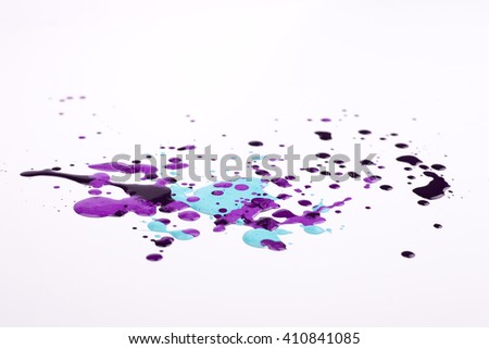 ink drops on a white background
