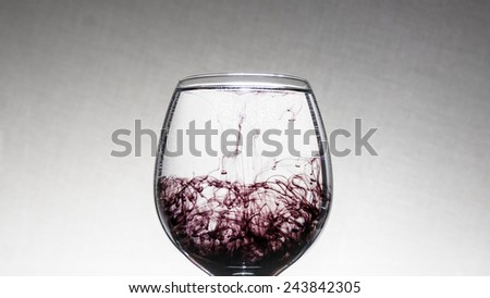 ink in the water - stock photo