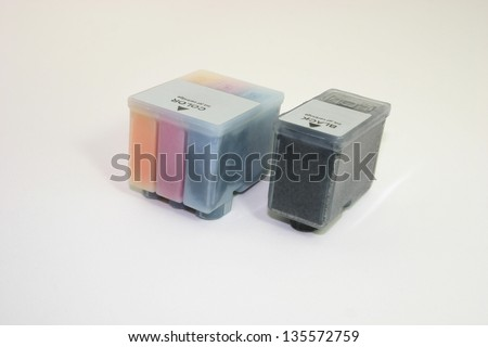 Ink jet cartidges - stock photo