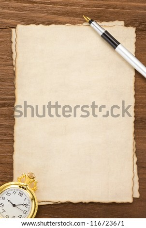 ink pen on parchment background texture