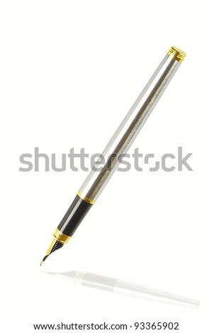 ink pen on white background - stock photo