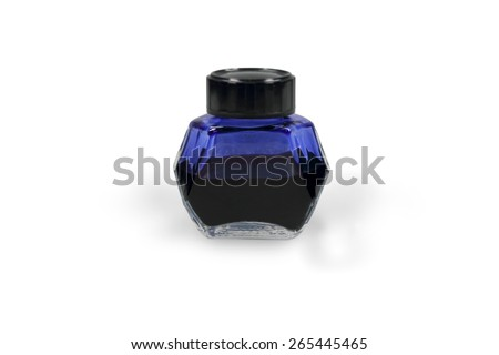 ink pot - stock photo